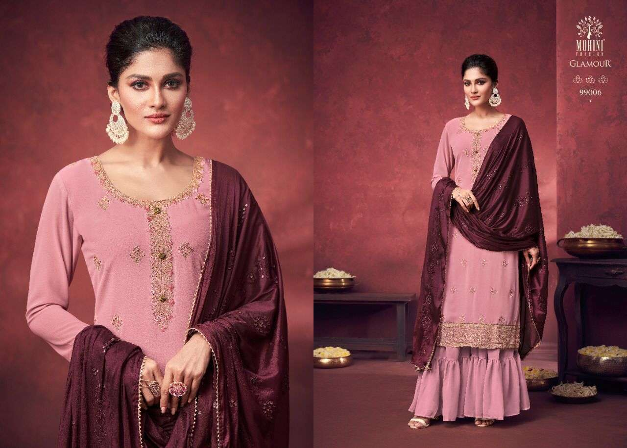 Mohini Fashion Glamour Vol 99 Georgette With Heavy Embroidery Work Dress Material Collection 06