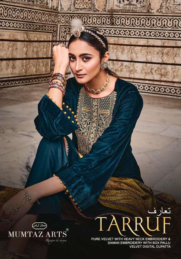 Mumtaz arts Tarruf Velvet With Embroidery Work Pashmina Suits Collection