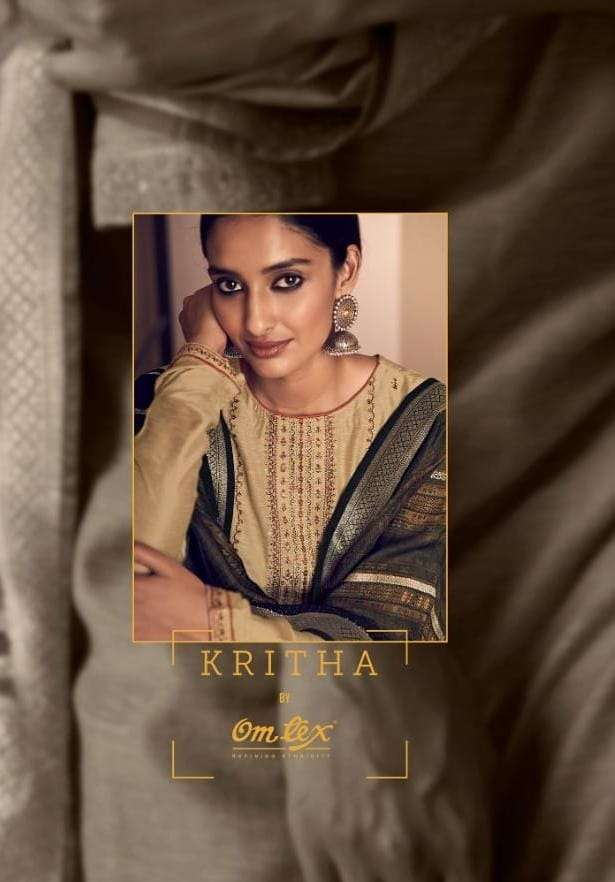 Omtex Kritha Silk With Embroidery Embroidery Work Salwar Kameez Collection