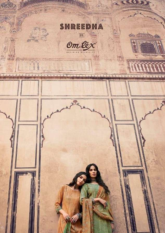Omtex Shreedha Silk Digital print With Sequence Embroidery Work Salwar kameez collection