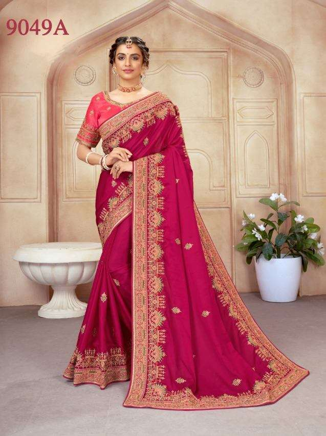 PC 9046 SERIES SATIN GEORGETTE PARTY WEAR SAREE COLLECTION