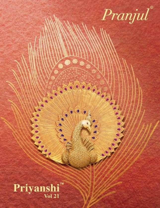 Pranjual Priyanshi Vol 21 Cotton printed dress Material Collection