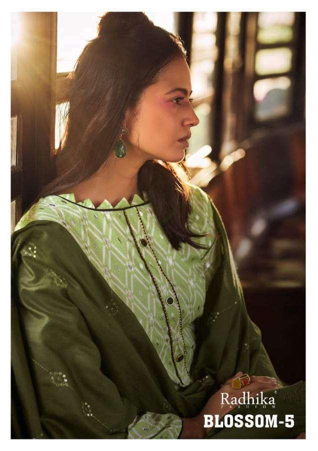 Radhika Azara Blossom Vol 5 Cotton Foil Print Dress Material Collection