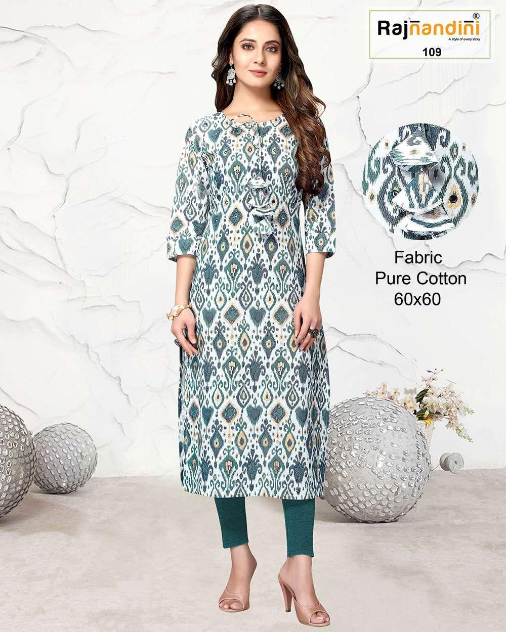 Raj Nandini Pure cotton Printed Kurtis Collection