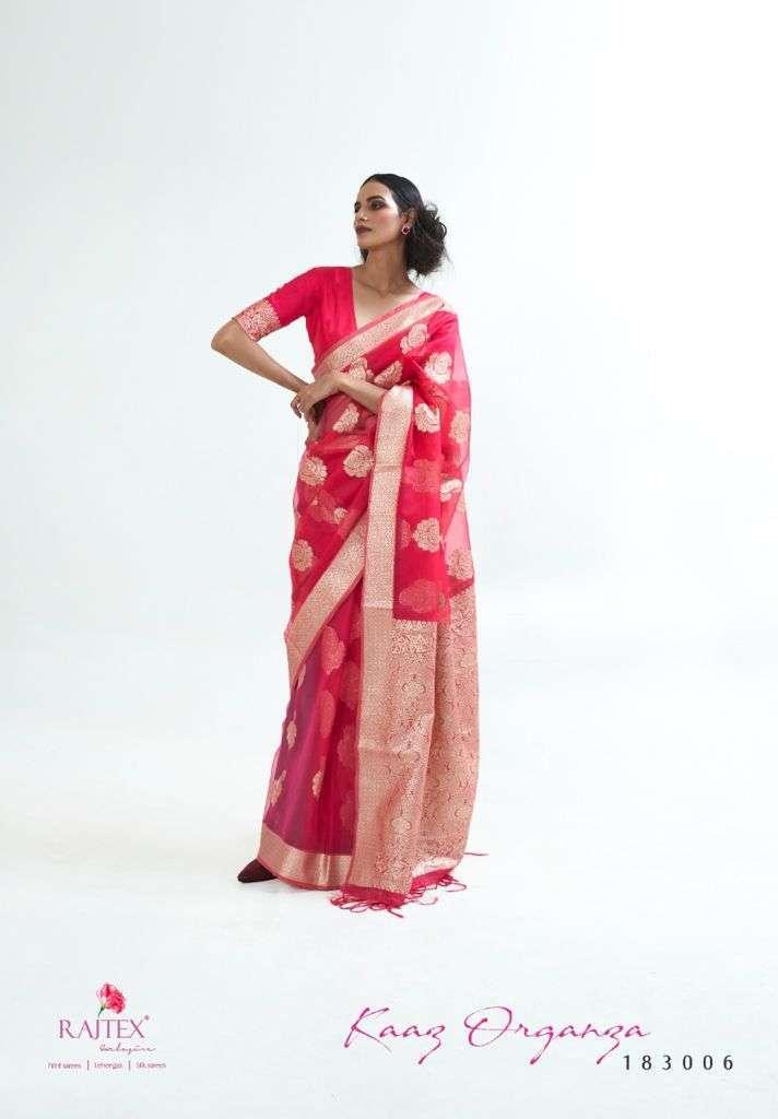Rajtex Kaaz Organza Silk Weaving Sarees Collection 04