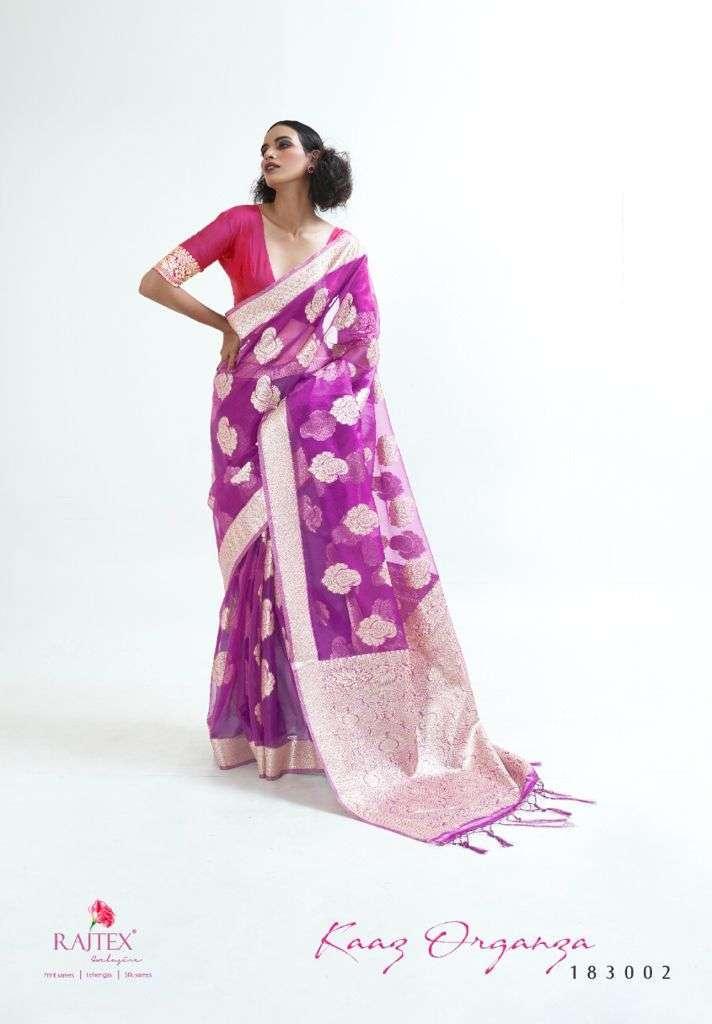 Rajtex Kaaz Organza Silk Weaving Sarees Collection 05