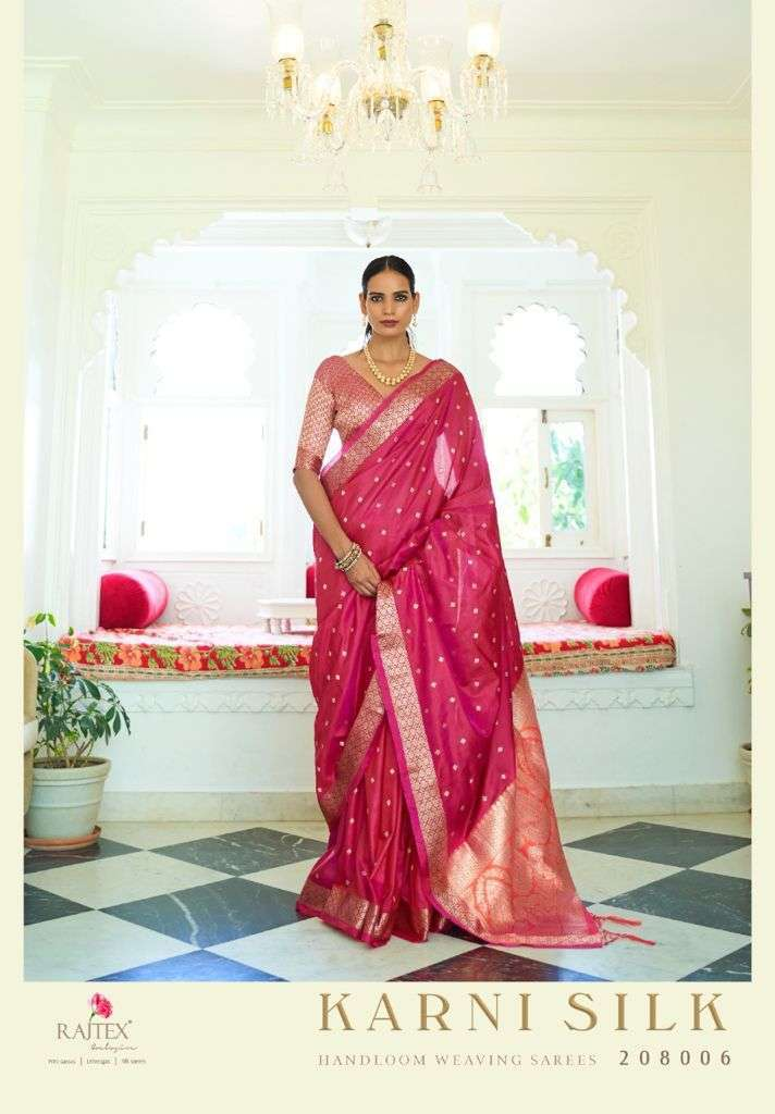 Rajtex Karni Silk Two Tone Handloom Weaving Sarees Collection