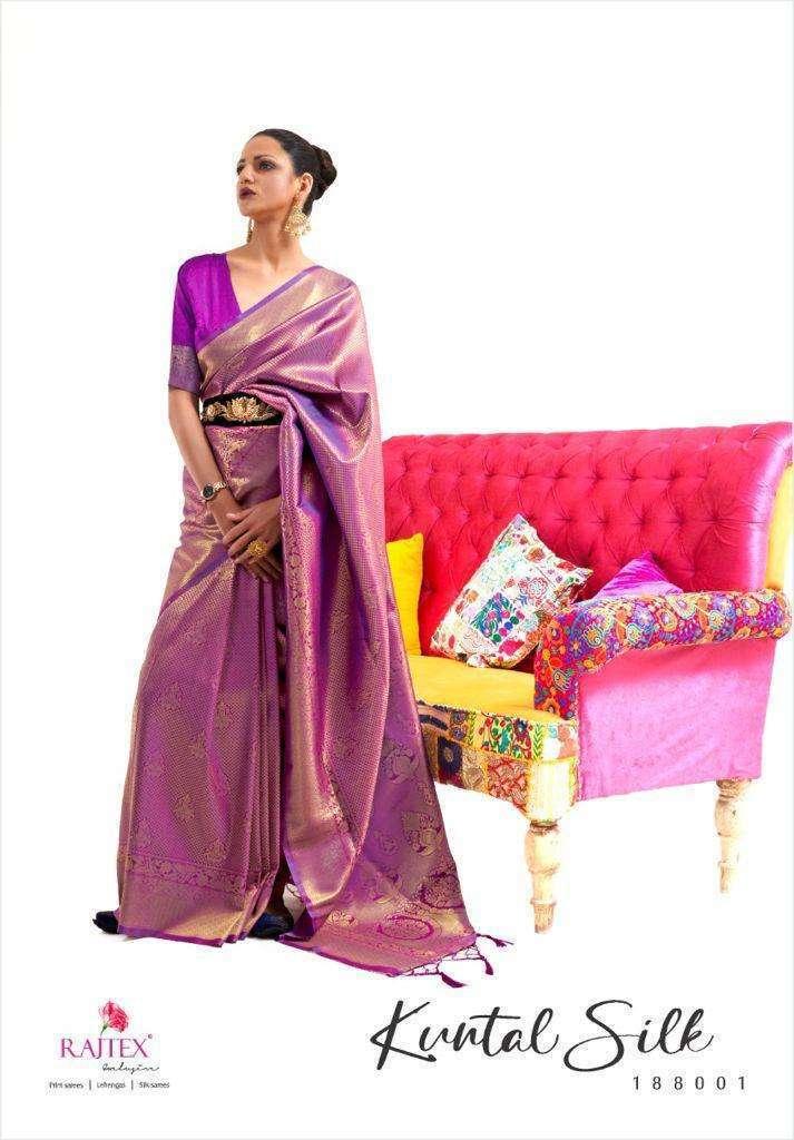 Rajtex Kuntal Silk Handloom Weaving Silk Sarees Collection 04