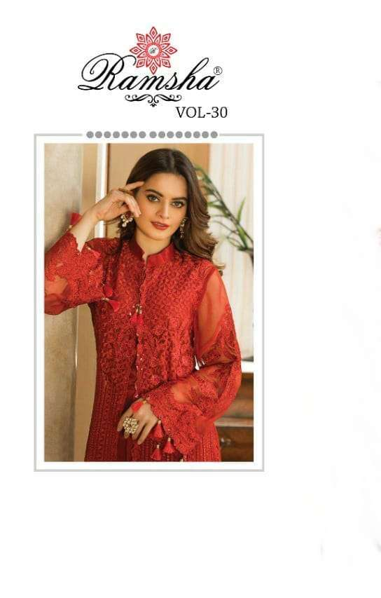 Ramsha Vol 30 Georgette With Embroidery Work Pakistani Suits Collection