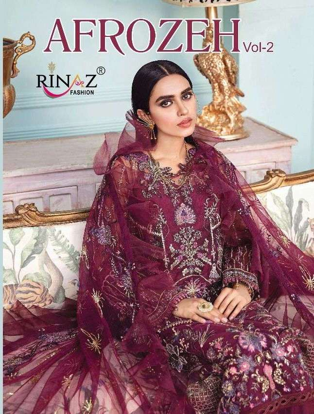 Rinaz Fashion Afrozeh Vol 2 Faux Georgette with Embroidery Work pakistani Suits Collection