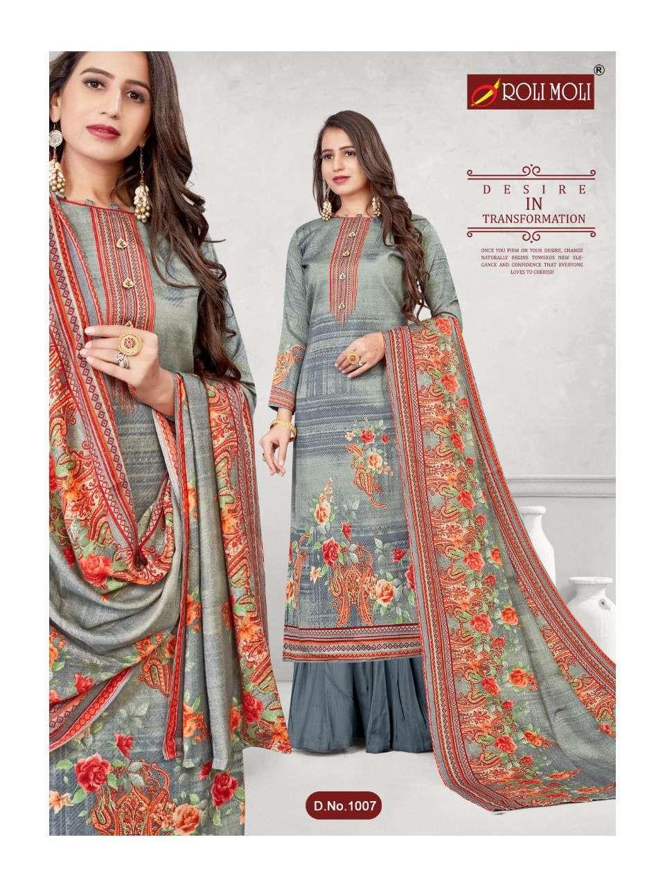 Roli Moli Kalki Pashmina Printed Dress Material Collection 03