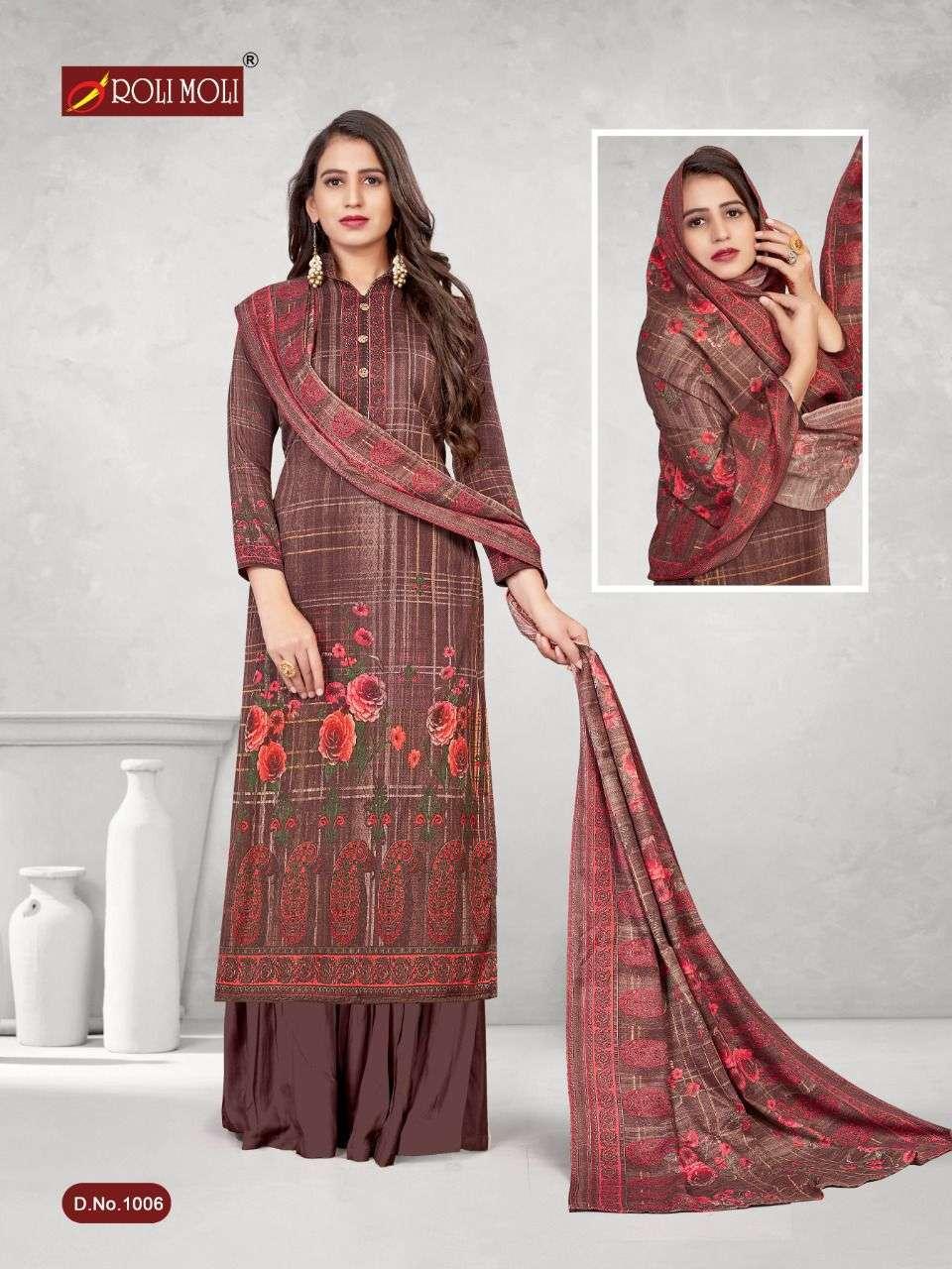 Roli Moli Kalki Pashmina Printed Dress Material Collection 06
