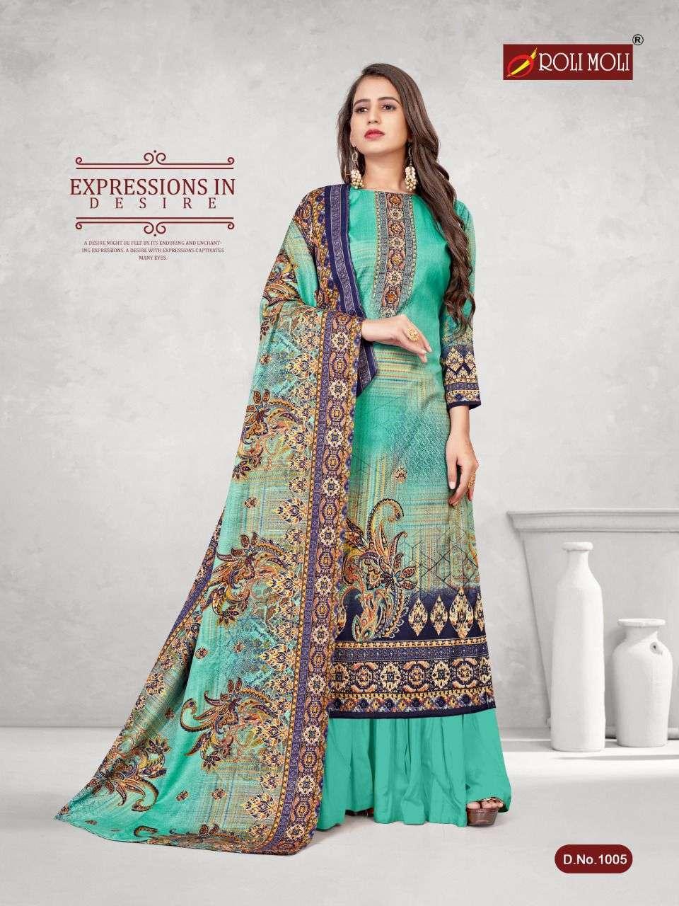 Roli Moli Kalki Pashmina Printed Dress Material Collection 07