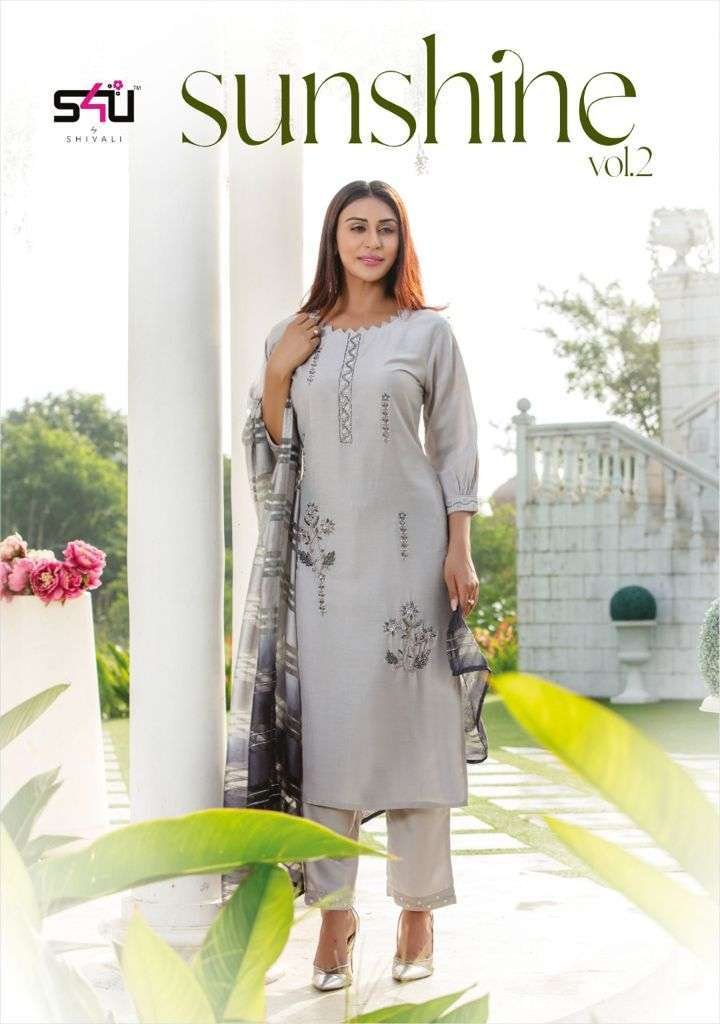 S4U Sunshine Vol 2 Silk with Hand Work Party wear Suits Collection