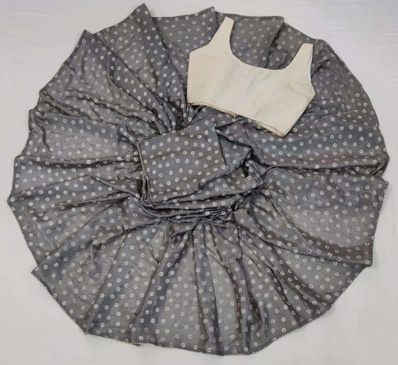 Saloni Soft Silk With Gota Patti Lace Border Sarees Collection 01