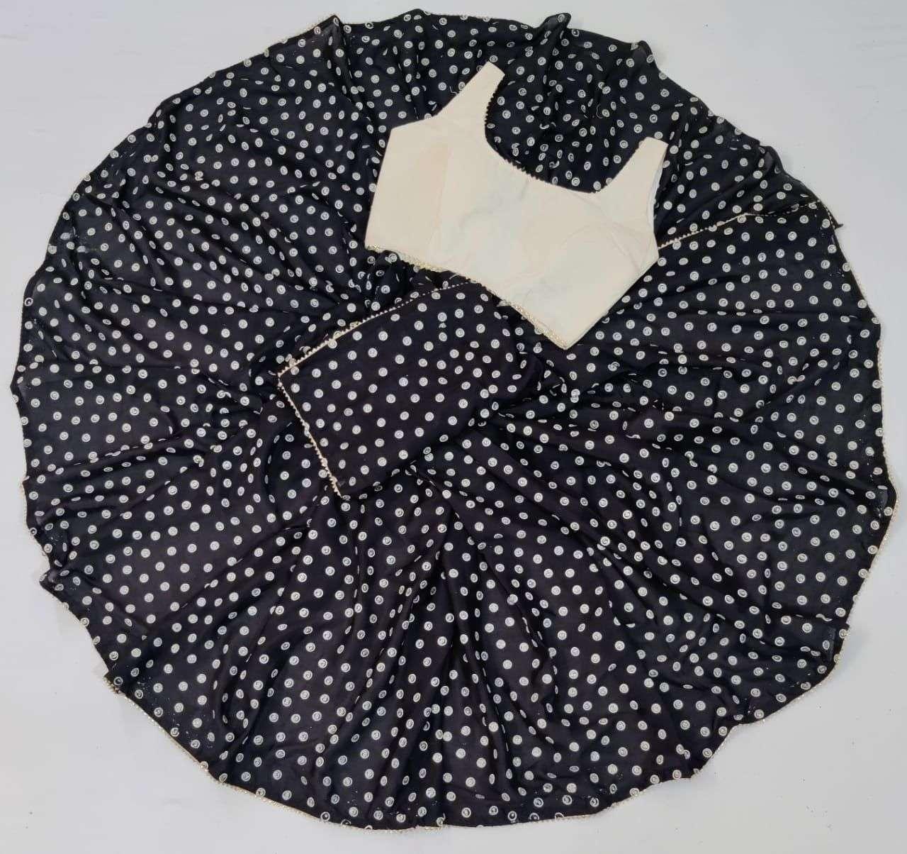 Saloni Soft Silk With Gota Patti Lace Border Sarees Collection 02