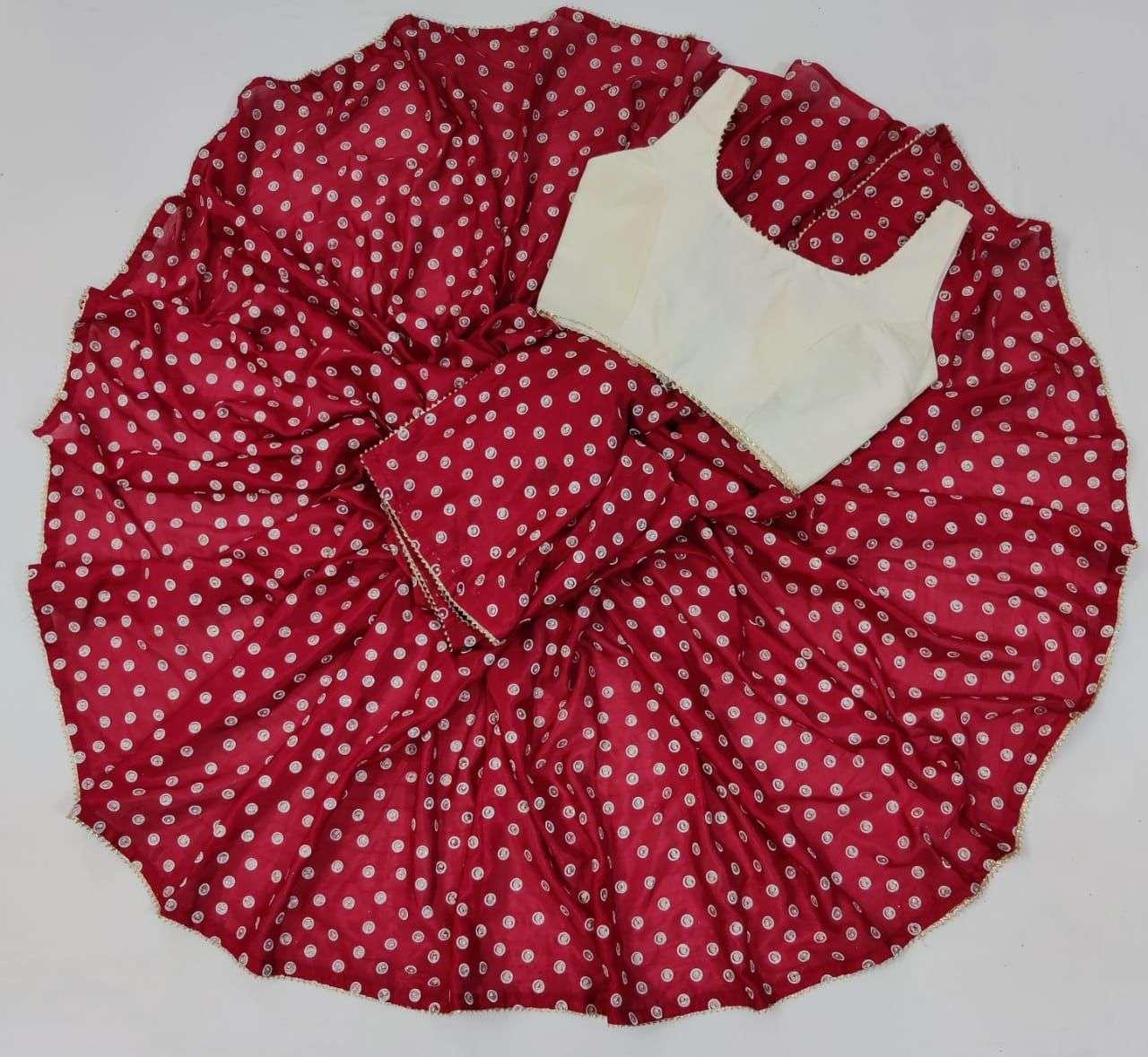 Saloni Soft Silk With Gota Patti Lace Border Sarees Collection 023