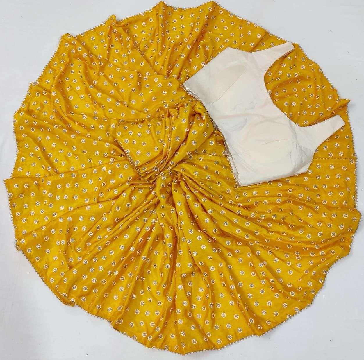 Saloni Soft Silk With Gota Patti Lace Border Sarees Collection 04