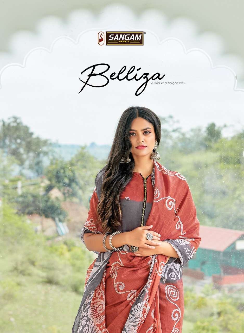 SANGAM PRINT BELLIZA COTTON WITH PRINTED SAREE COLLECTION AT WHOLESALE RATE