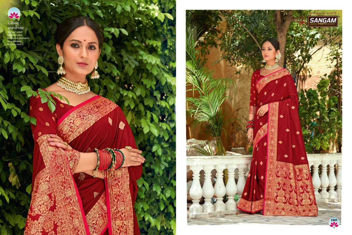 Sangam Prints Devanshi Silk Sarees Collection 06