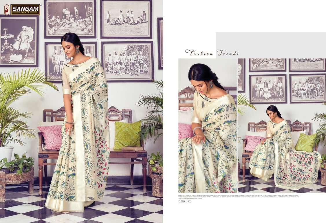 Sangam Prints Divyanka Cotton Sarees Collection 01