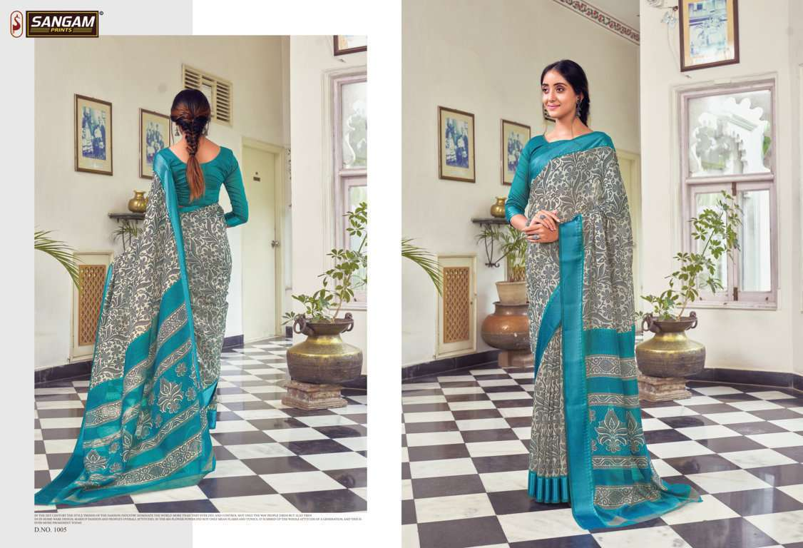 Sangam Prints Divyanka Cotton Sarees Collection 03
