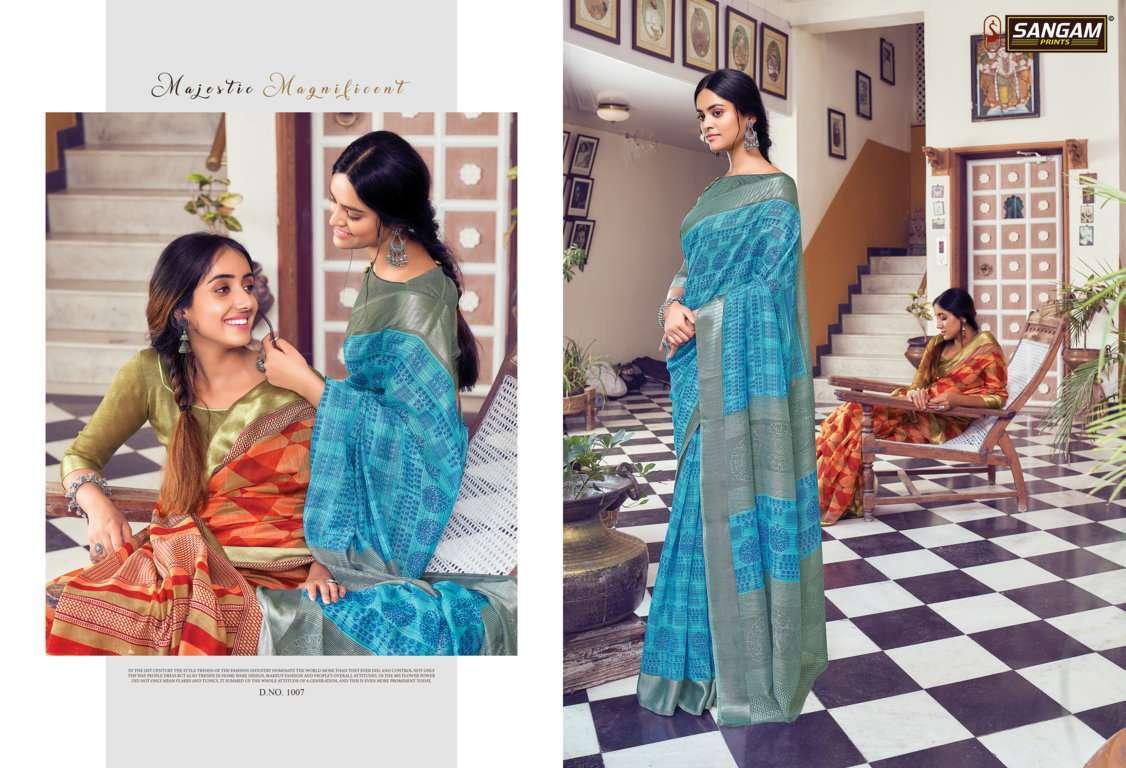 Sangam Prints Divyanka Cotton Sarees Collection 05