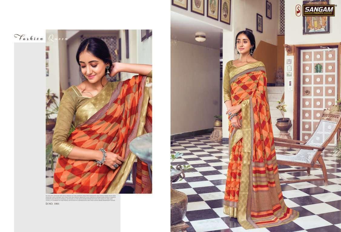 Sangam Prints Divyanka Cotton Sarees Collection 08