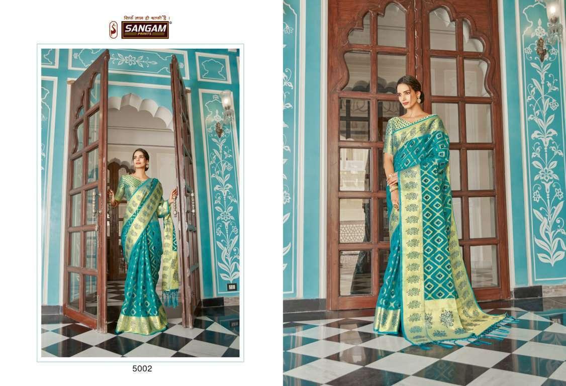 Sangam Prints Mugdha Organza Weaving Sarees Collection 02