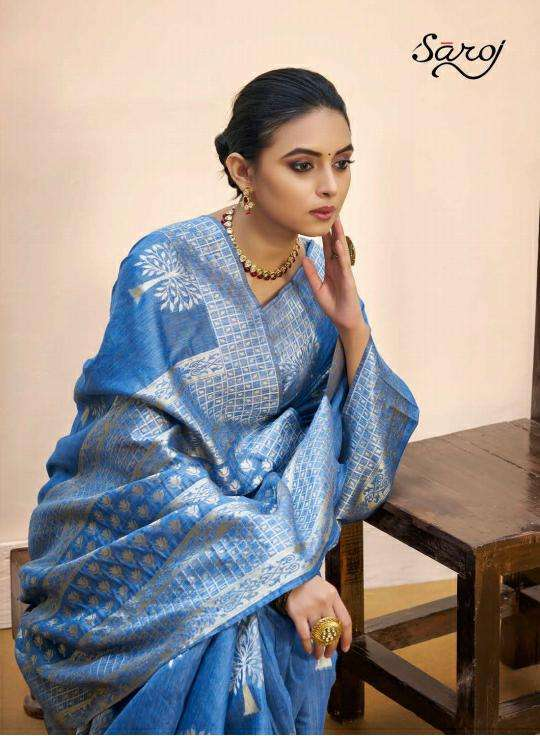 Saroj Nasheen Vol 2 Linen Cotton Silk Sarees Collection