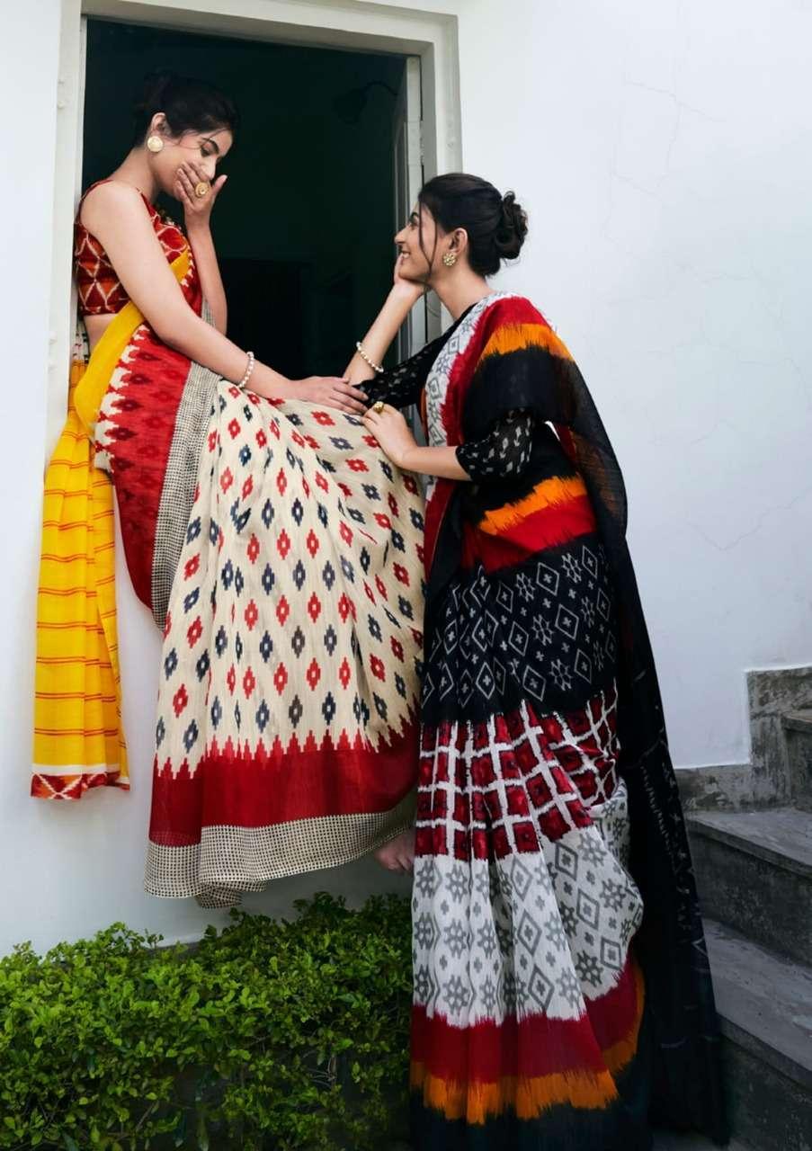 shangrila Sarees Mul Mul cotton Vol 4 Cotton handloom Printed Sarees collection