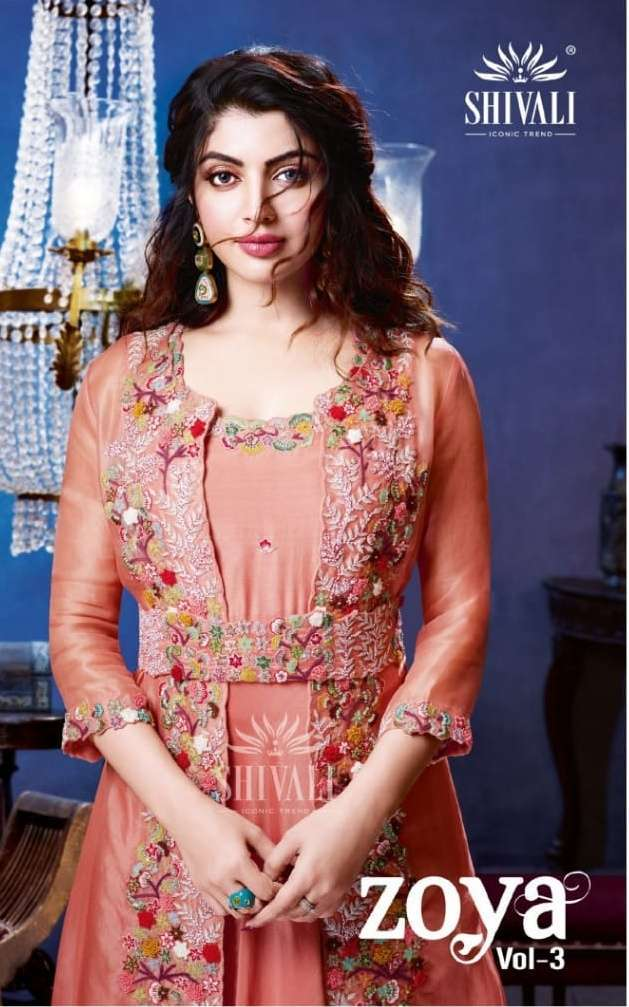 Shivali Fashion Zoya Vol 3 Fancy readymade Wedding Suits Collection