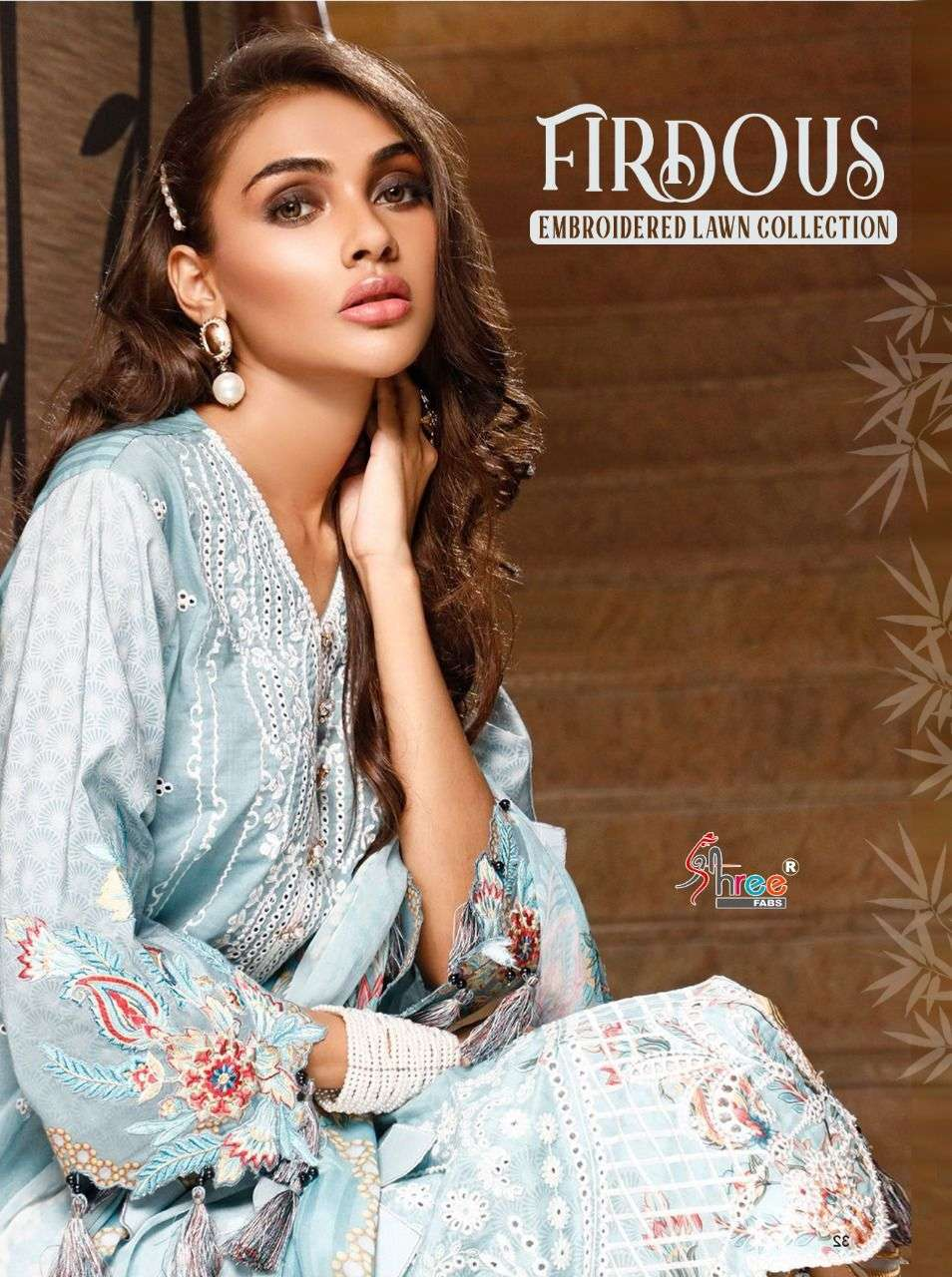 SHREE FAB FIRDOUS EMBROIDERED LAWN COLLECTION WHOLESALER
