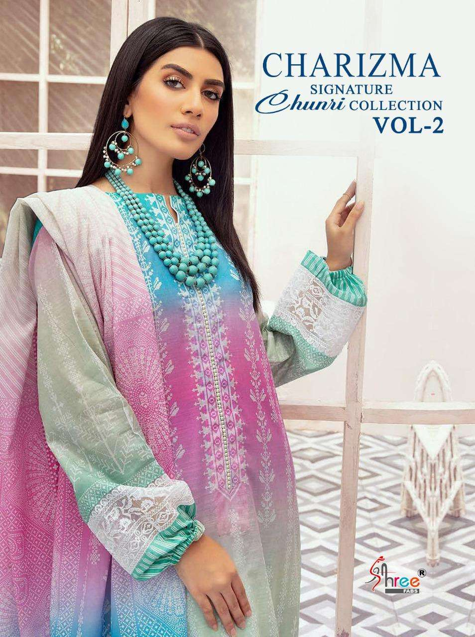 Shree Fabs Charizma Signature Chunri Collection Vol 2 Cotton With patch work Pakistani Suits Collection