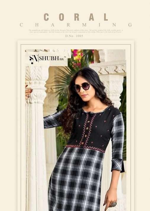 Shubh Nx Kulfi  vol 1 Viscose Handloom Designer  kurtis collection