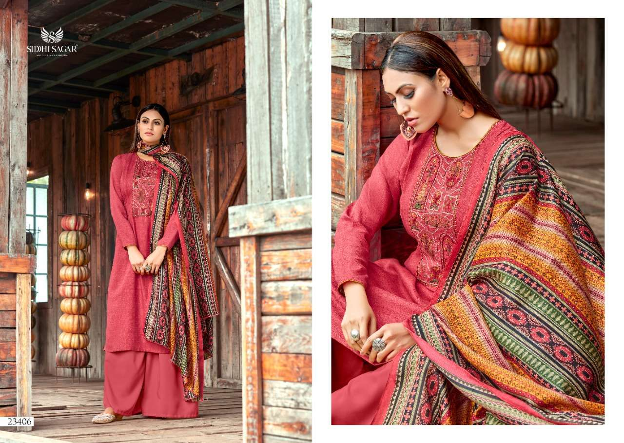 Siddhi Sagar Hansika Pashmina Print With Embroidery Work Dress Material Collection 05