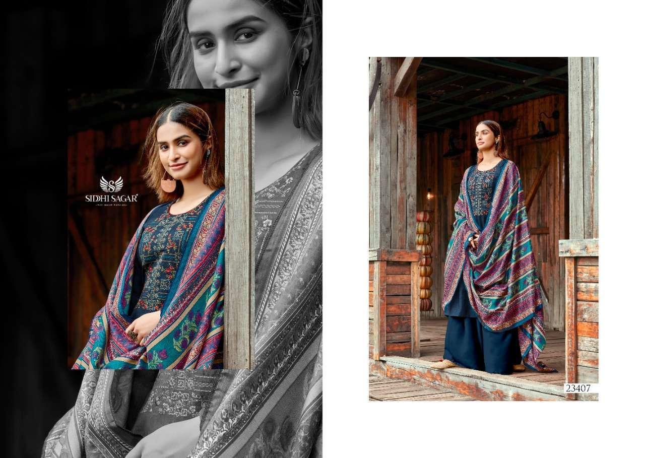 Siddhi Sagar Hansika Pashmina Print With Embroidery Work Dress Material Collection 06