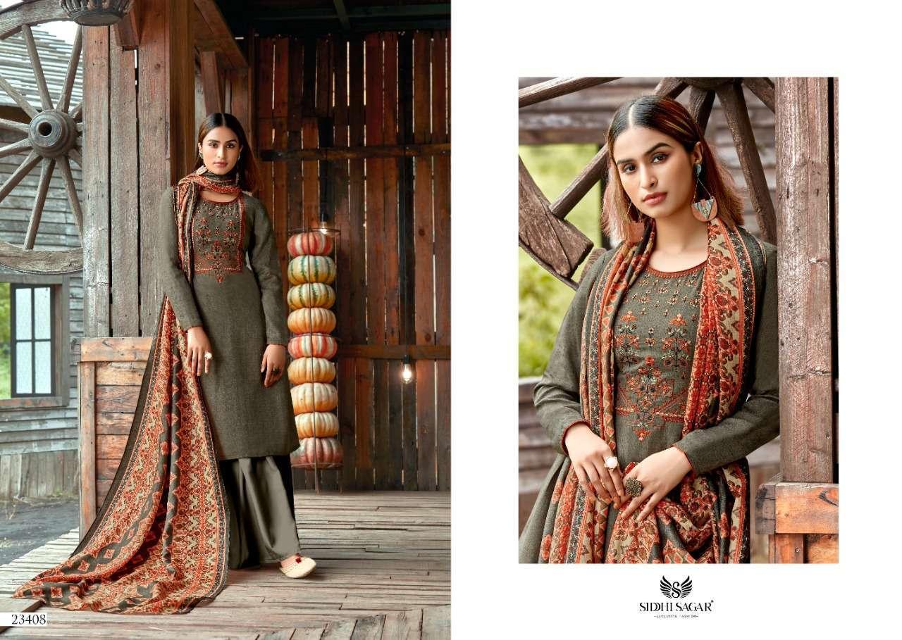 Siddhi Sagar Hansika Pashmina Print With Embroidery Work Dress Material Collection 07