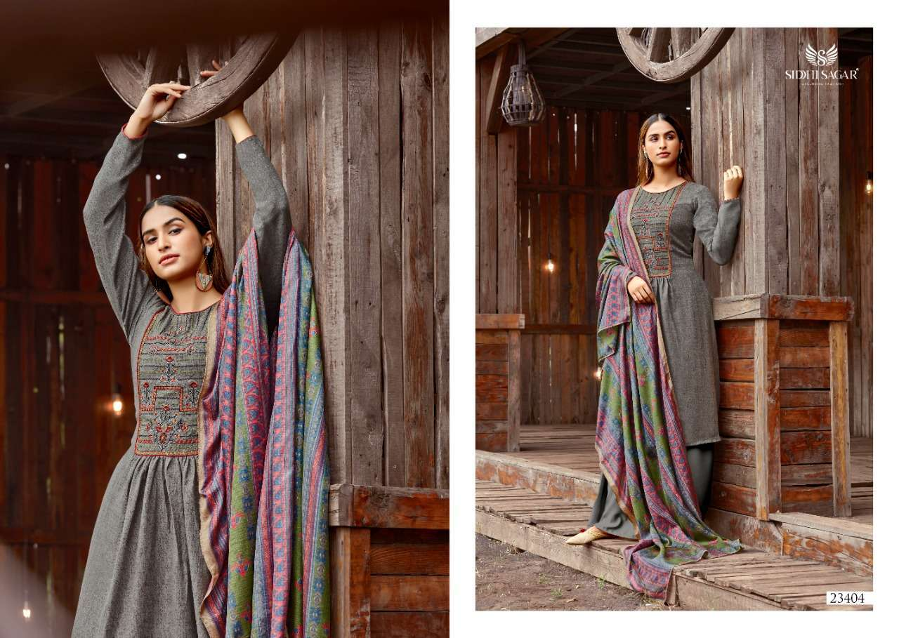 Siddhi Sagar Hansika Pashmina Print With Embroidery Work Dress Material Collection 08