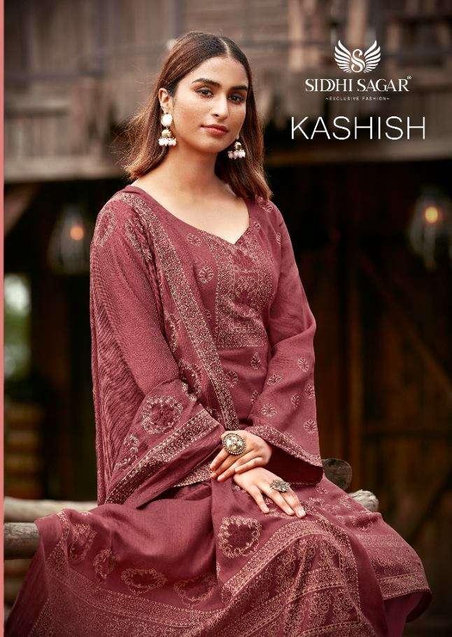 Siddhi Sagar Kashish Pashmina jacquard Print Dress material Collection
