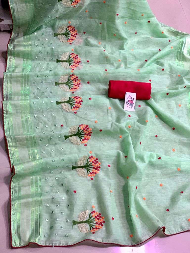 SOFT COTTON WITH MULTI THREAD WORK SAREE COLLECTION
