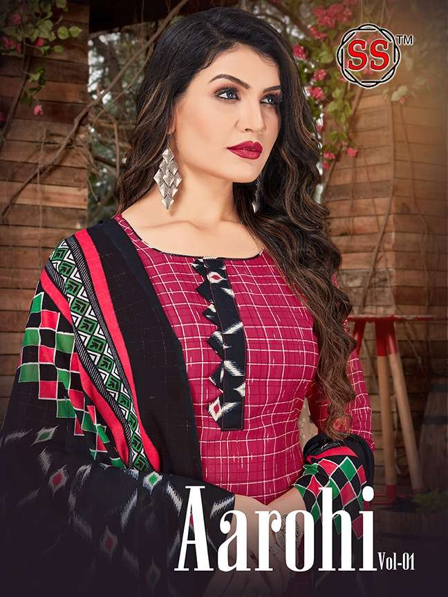 SS Aarohi Vol 1 Indo Cotton Printed Regular Wear Dress Material collection