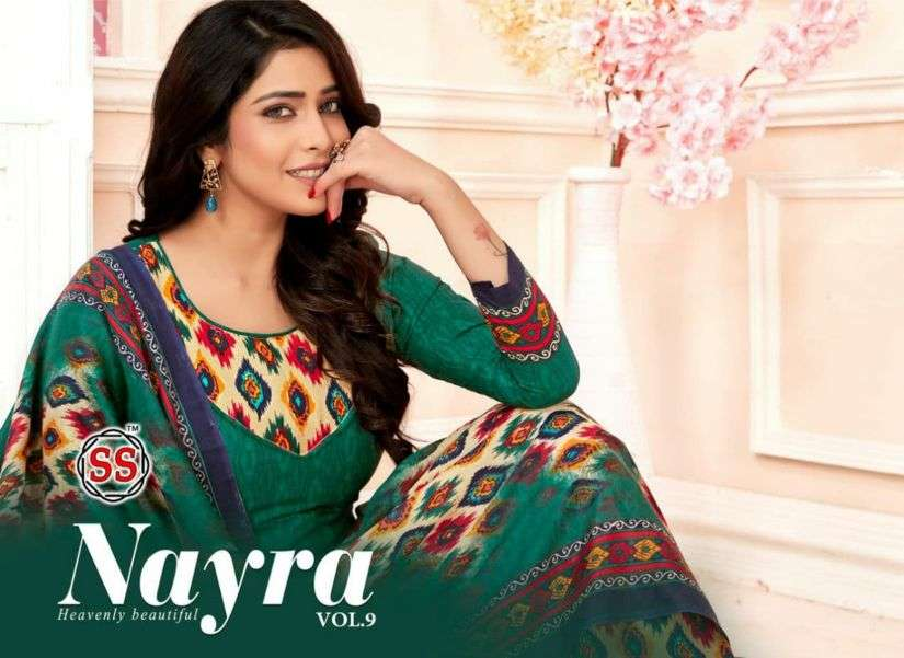 SS Nayra Vol 9 Indo Cotton Printed Dress Material Collection