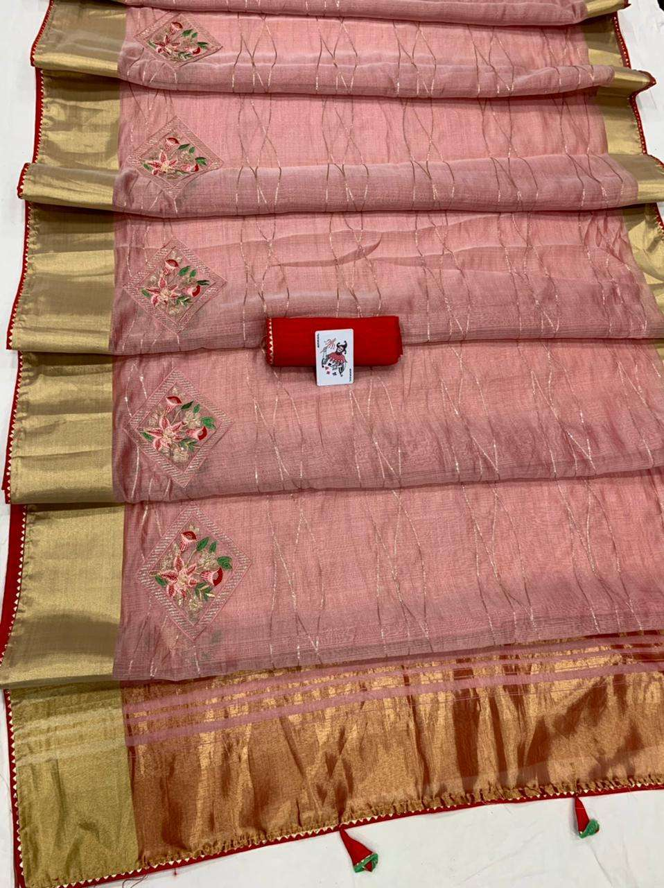 STUTI ORGANZA SILK WITH MULTI SEQUNCE WORK PARTY WEAR SAREE COLLECTION