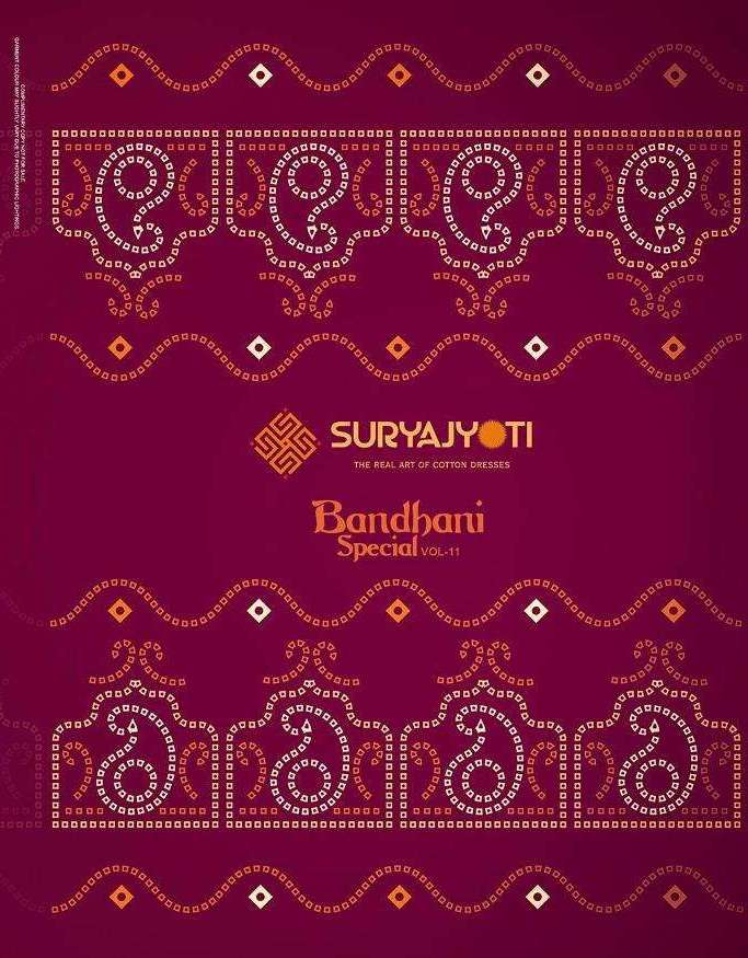 Suryajyoti Bandhani Special Vol 11 Cambric Cotton Printed Dress Material Collection