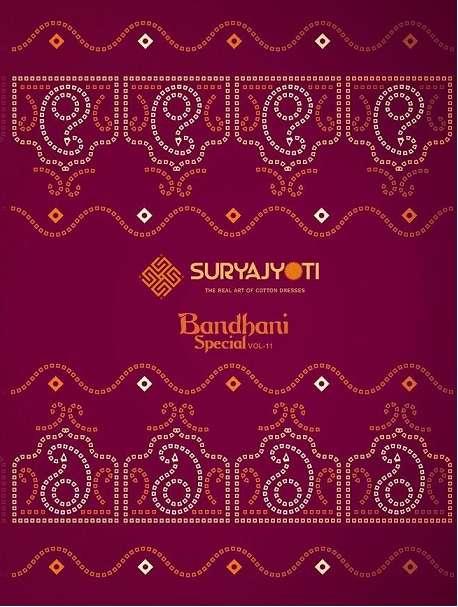 Suryajyoti Bandhani Special Vol 11 Printed salwar kameez dress material supplier