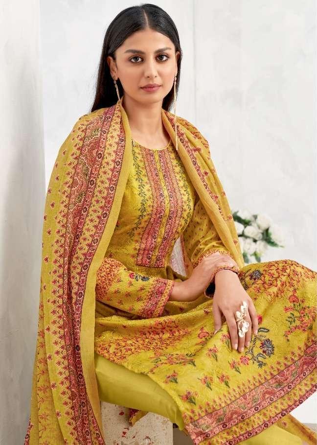 Suryajyoti Nushrat Vol 4 Cotton Satin Printed Dress Material Collection