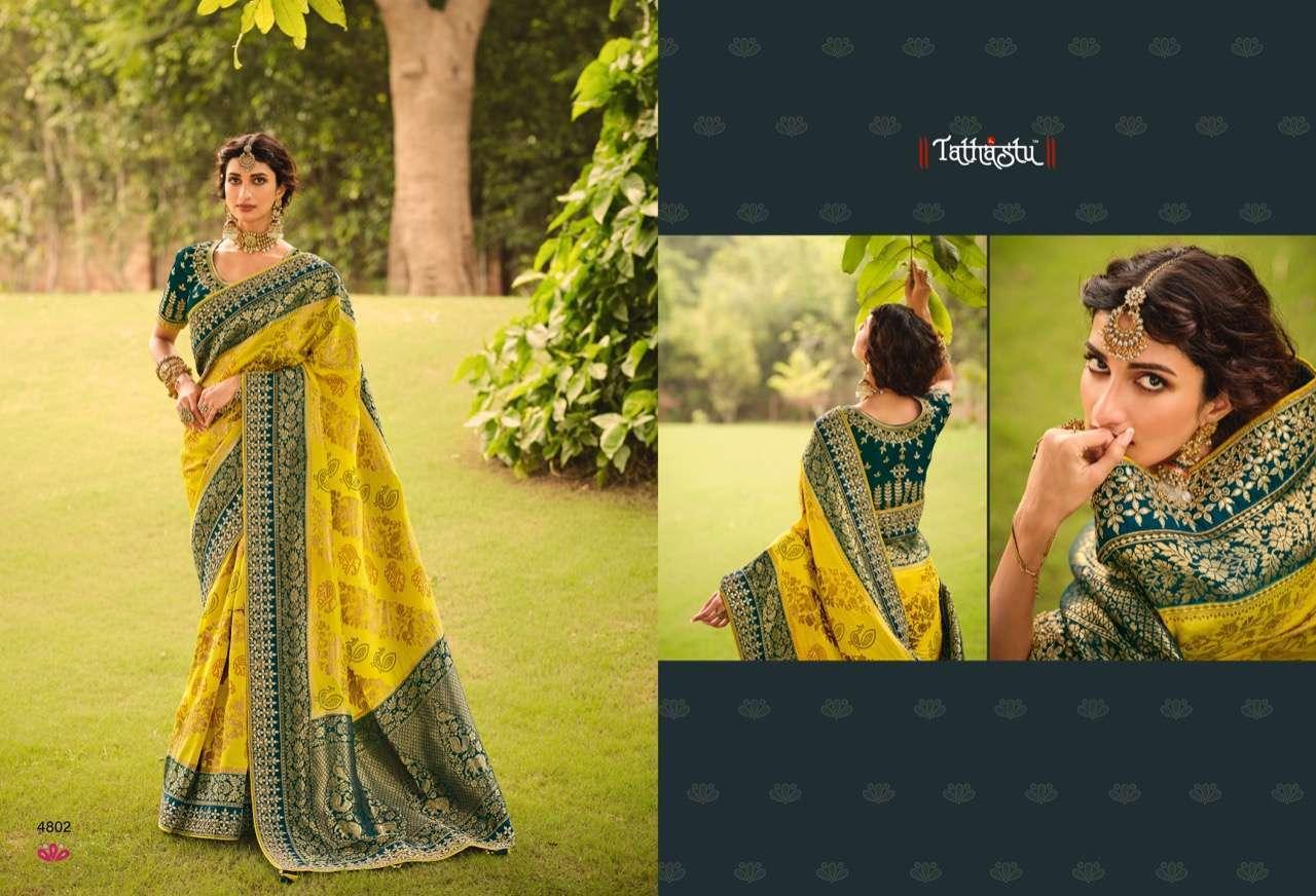 Tathastu Anaara 4801-4809 Series Silk Designer Sarees Collection 4802