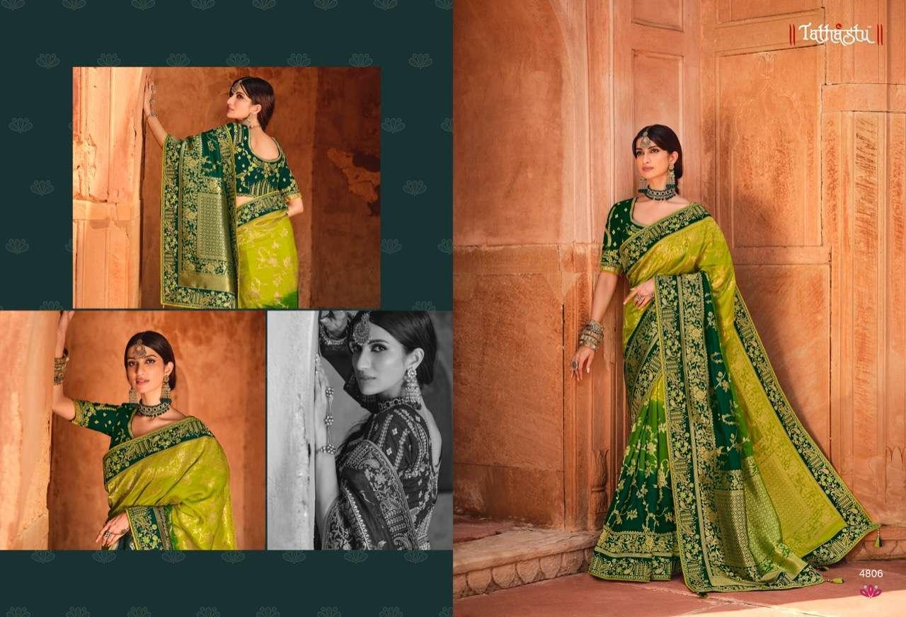 Tathastu Anaara 4801-4809 Series Silk Designer Sarees Collection 4806