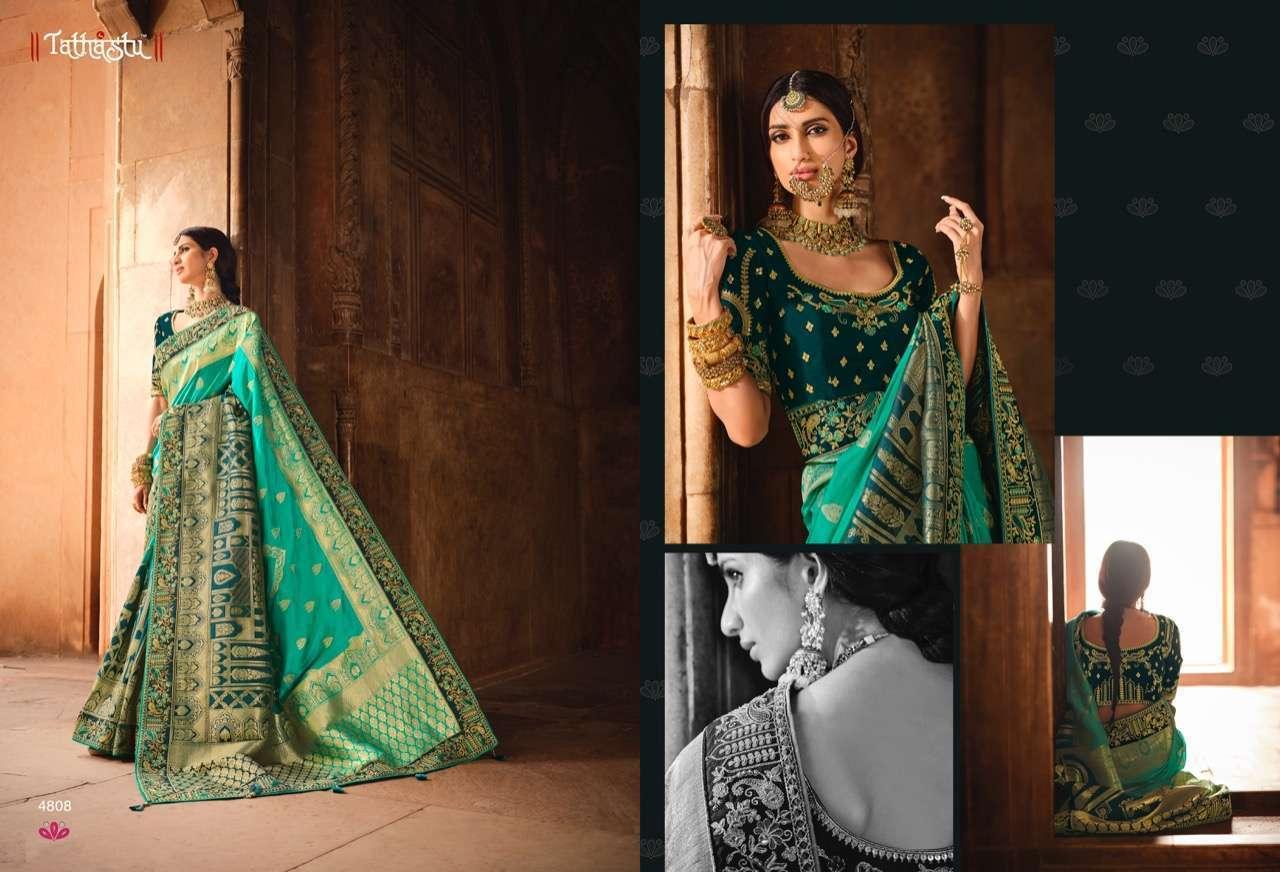 Tathastu Anaara 4801-4809 Series Silk Designer Sarees Collection 4808